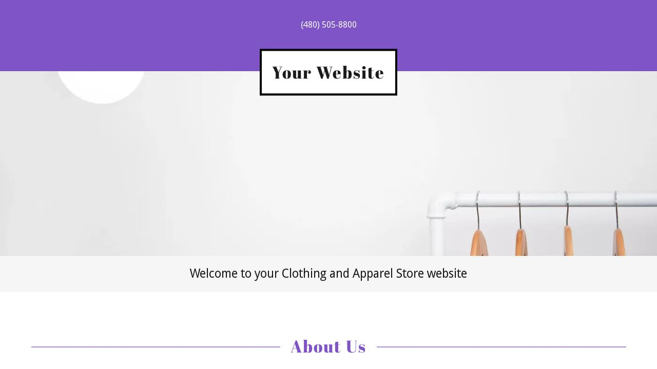 Clothing and Apparel Store Website: Example 2