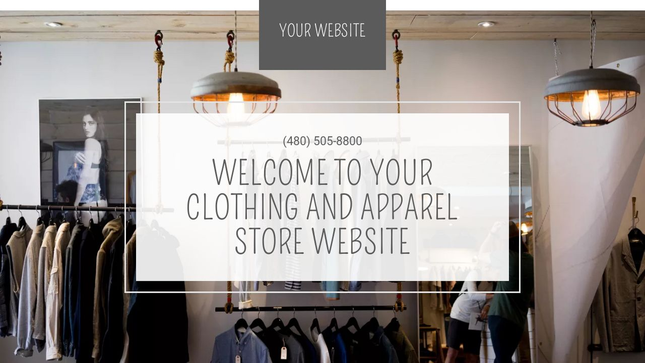 Clothing and Apparel Store Website: Example 3
