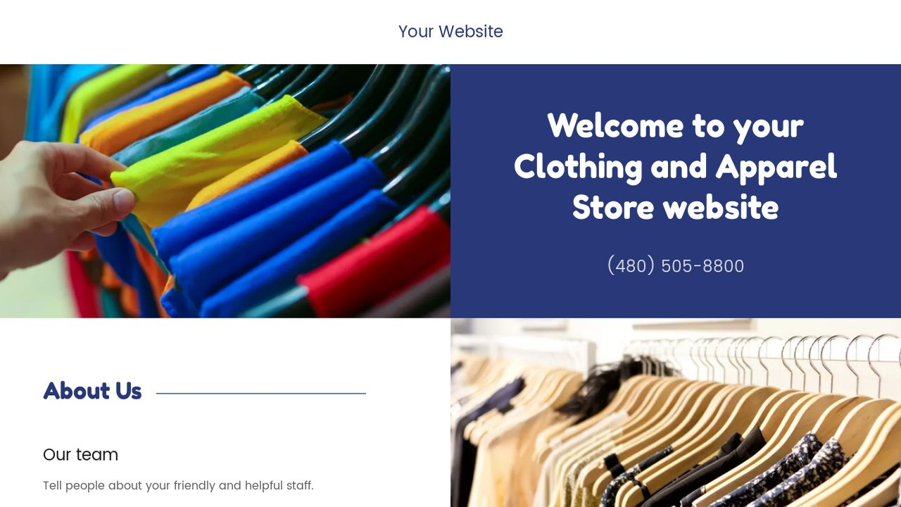Clothing and Apparel Store Website: Example 5