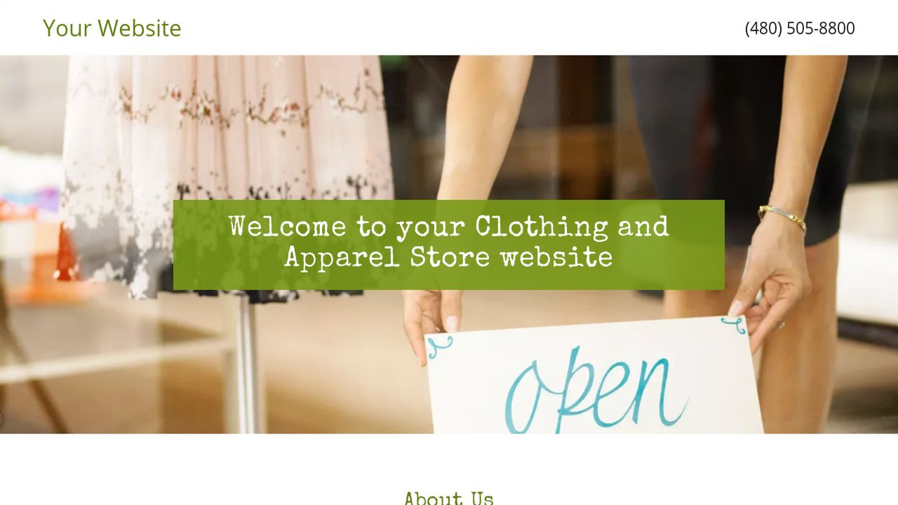 Clothing and Apparel Store Website: Example 6