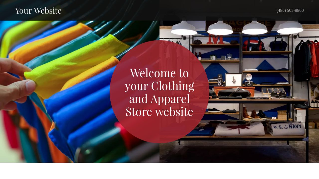 Clothing and Apparel Store Website: Example 7