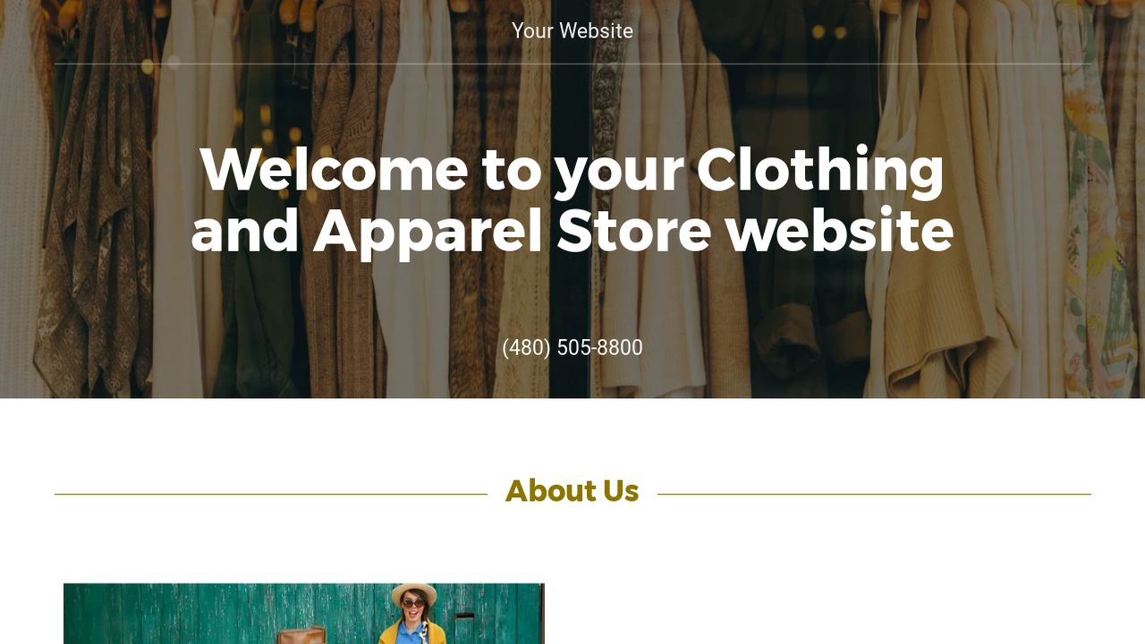 Clothing and Apparel Store Website: Example 8