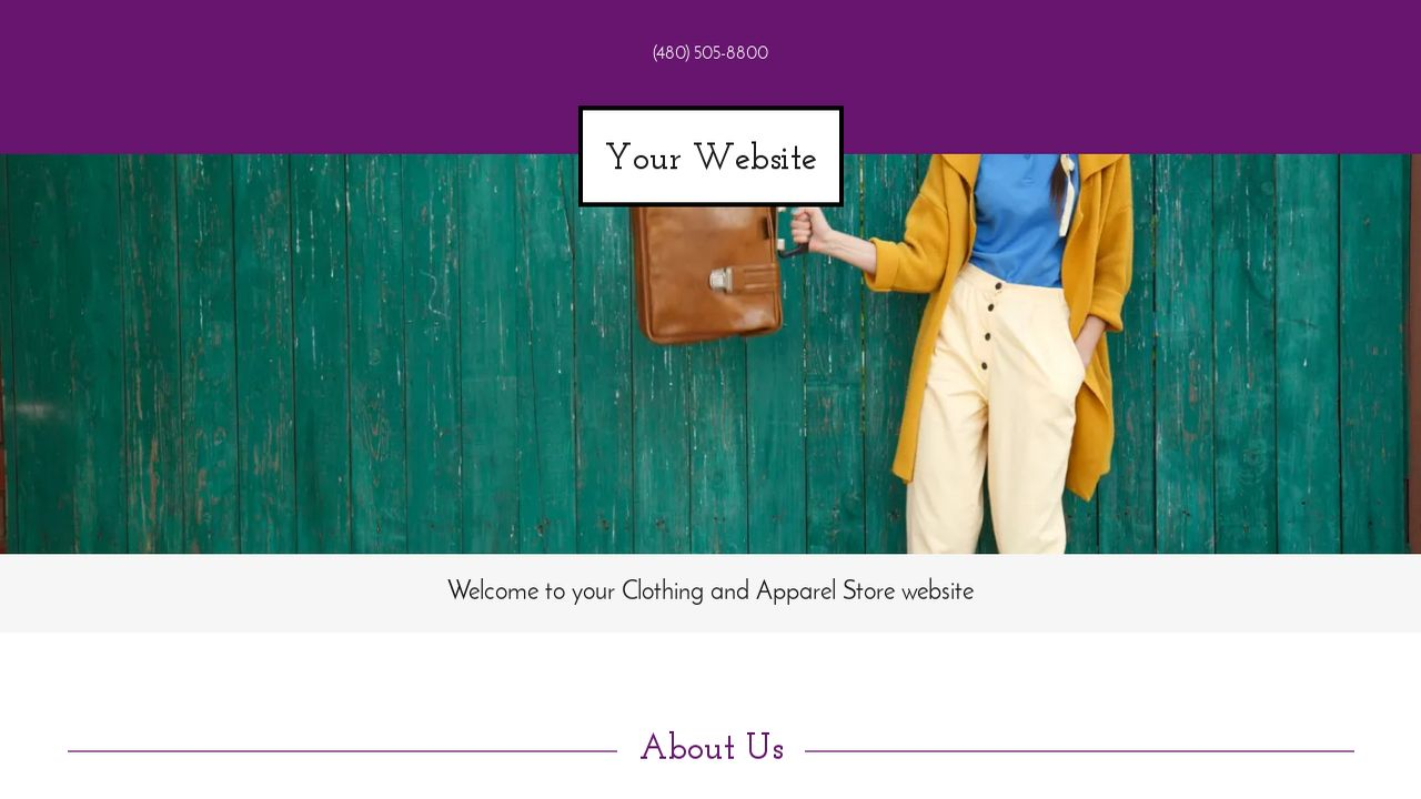 Clothing and Apparel Store Website: Example 9