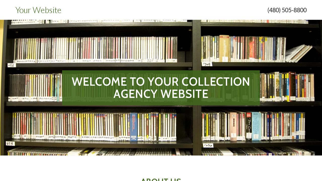 Collection Agency Website: Example 10