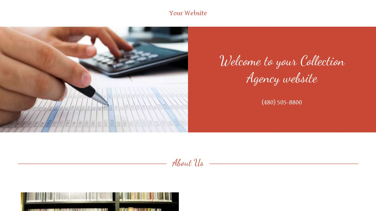 Collection Agency Website: Example 14