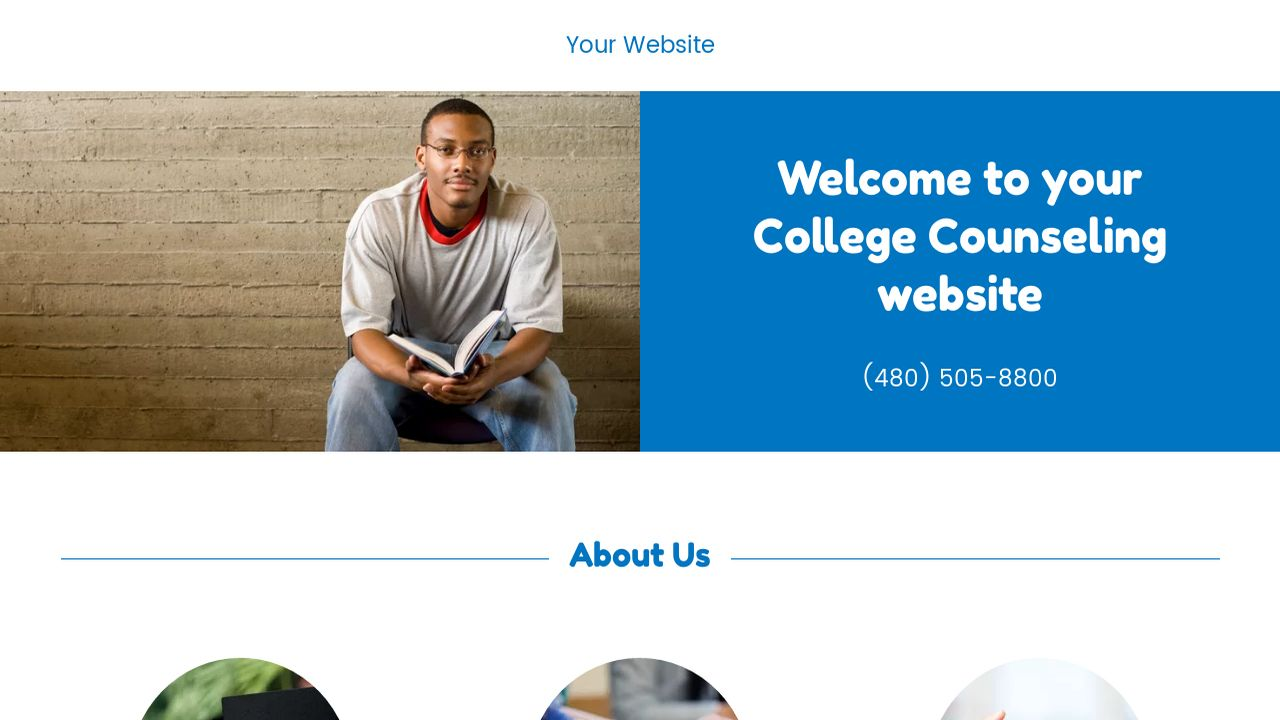 College Counseling Website: Example 1
