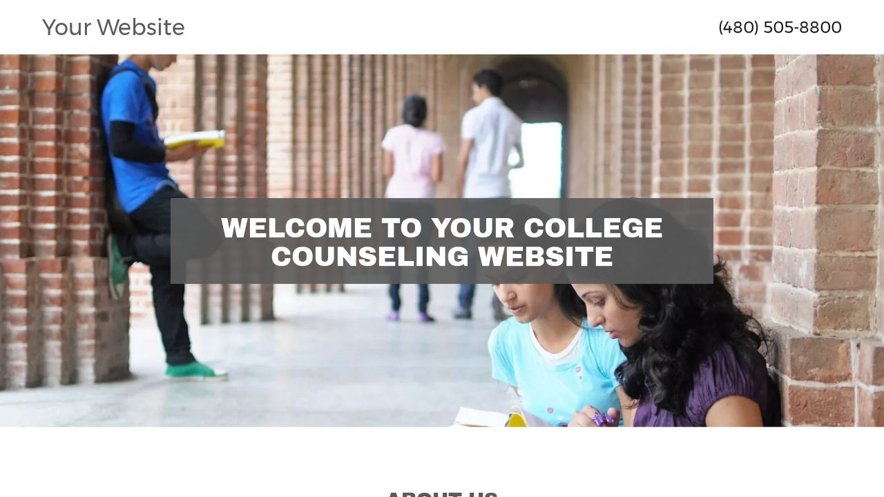 College Counseling Website: Example 12