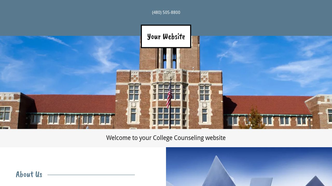 College Counseling Website: Example 14