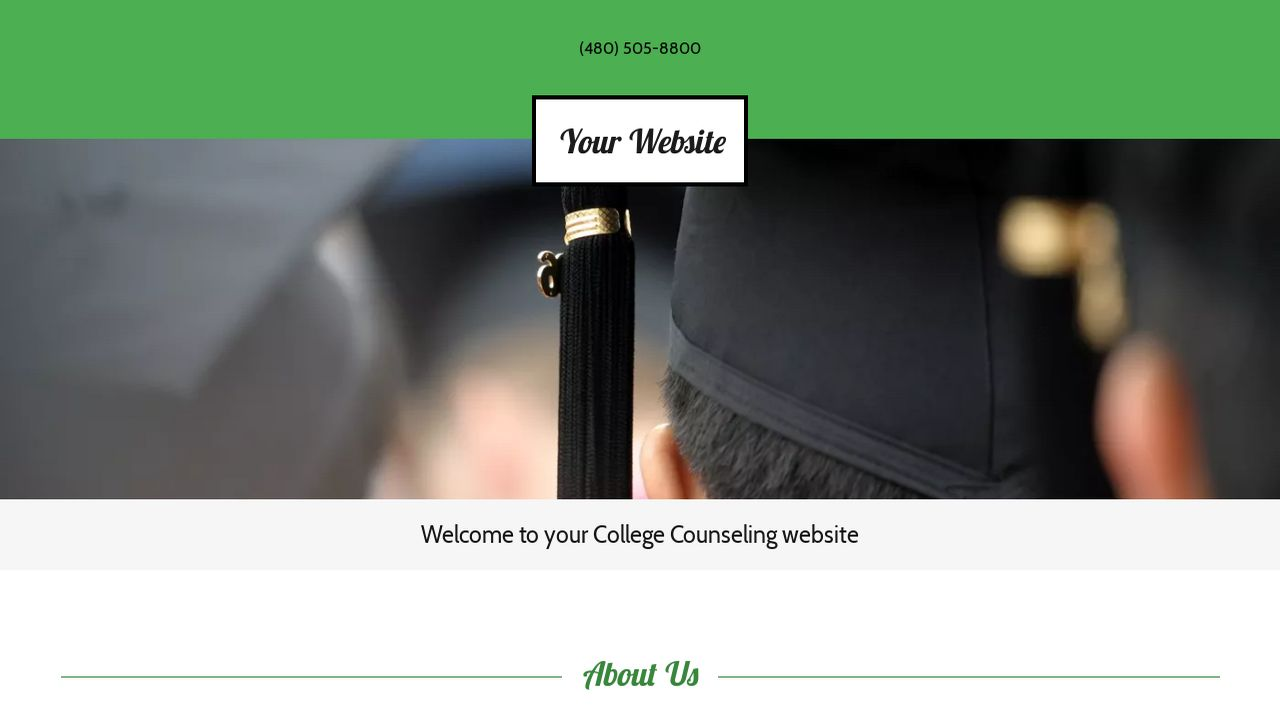 College Counseling Website: Example 7
