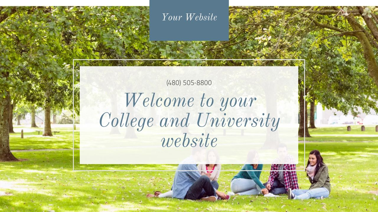 College and University Website: Example 1