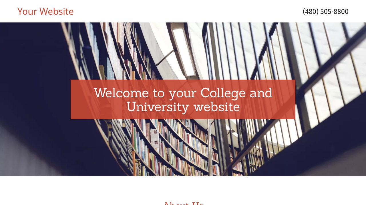College and University Website: Example 13