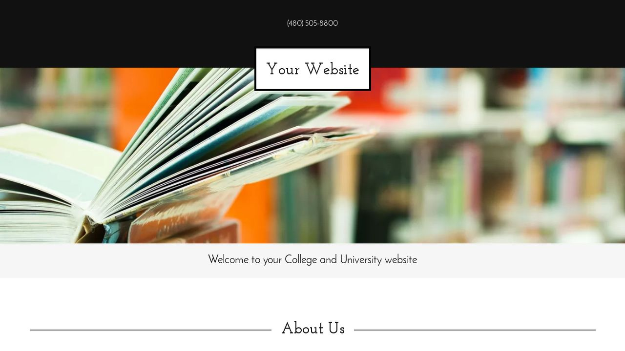 College and University Website: Example 16