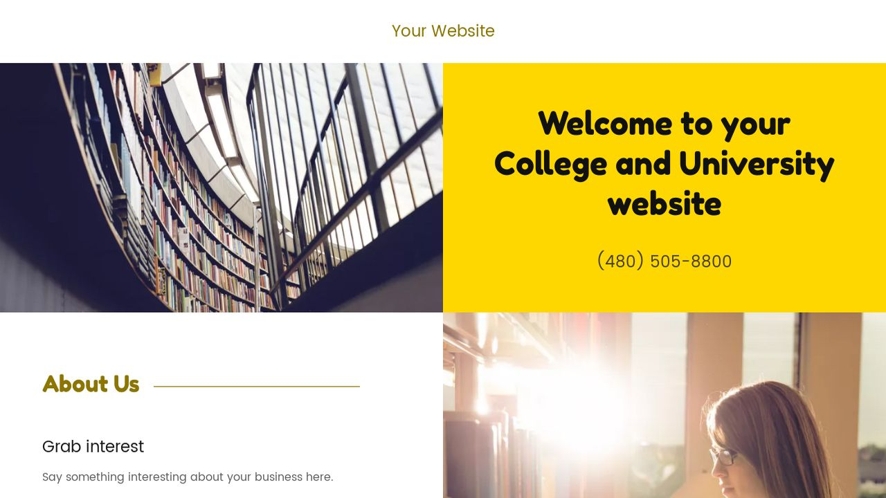 College and University Website: Example 17