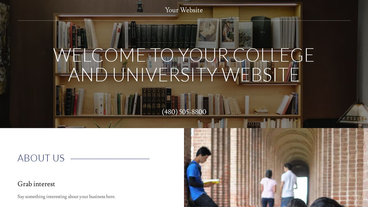 College and University Website: Example 7
