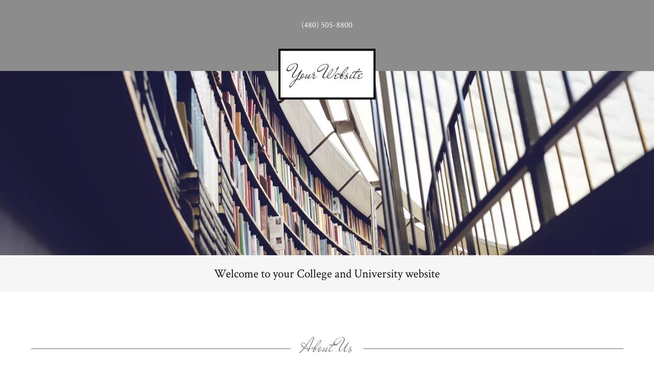 College and University Website: Example 9