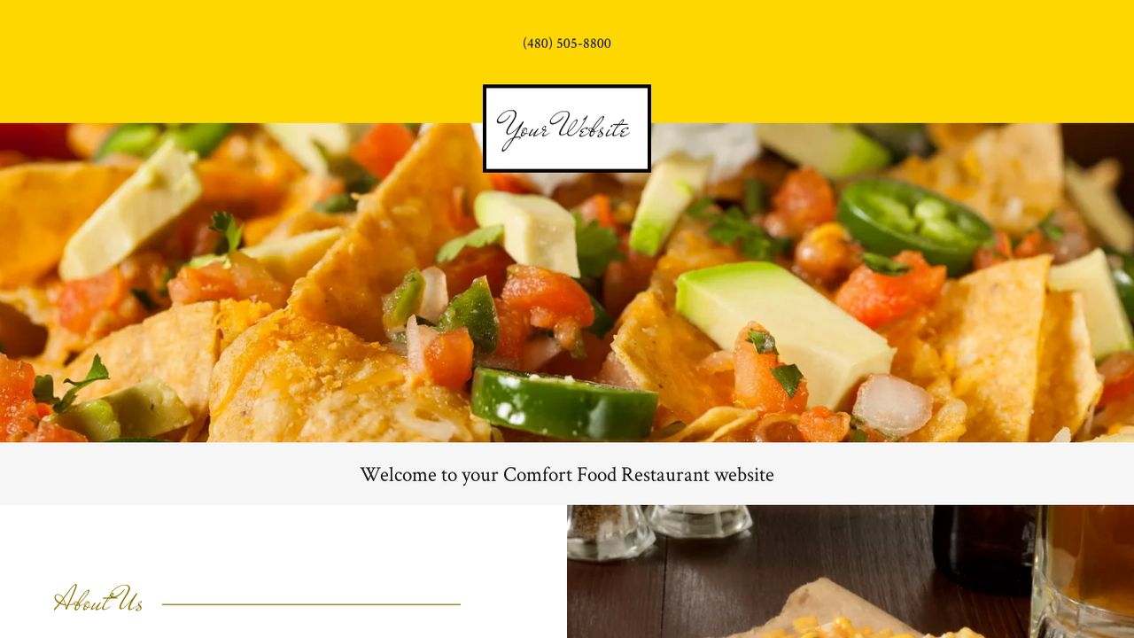 comfort food restaurant website templates godaddy