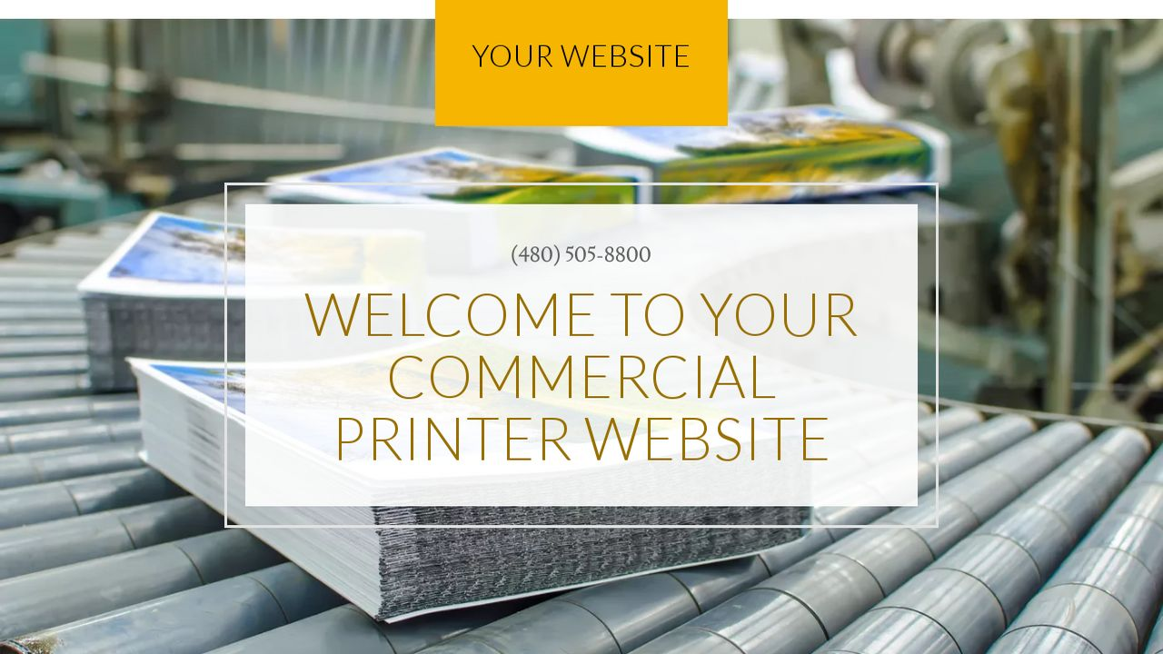 Commercial Printer Website: Example 1