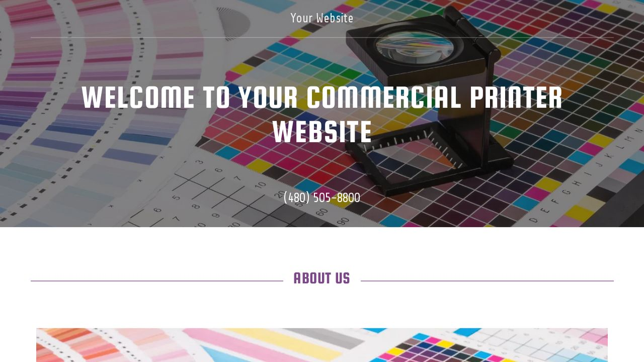 Commercial Printer Website: Example 10