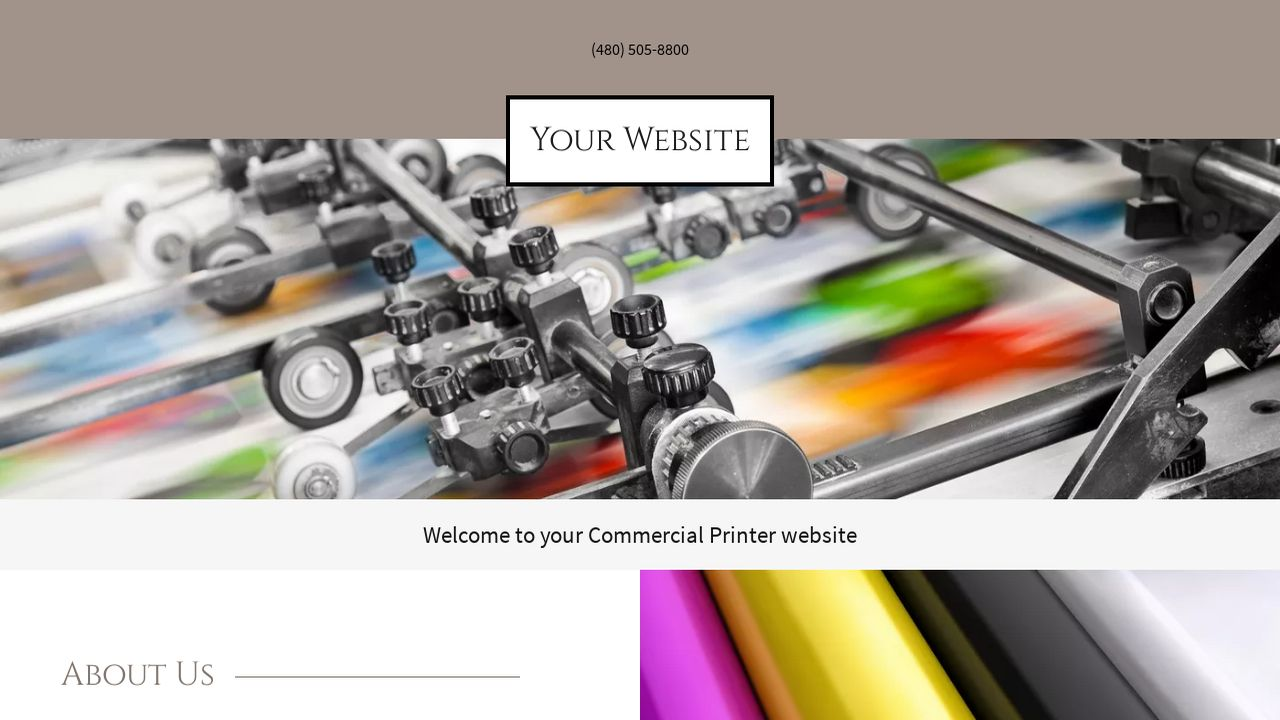 Commercial Printer Website: Example 13