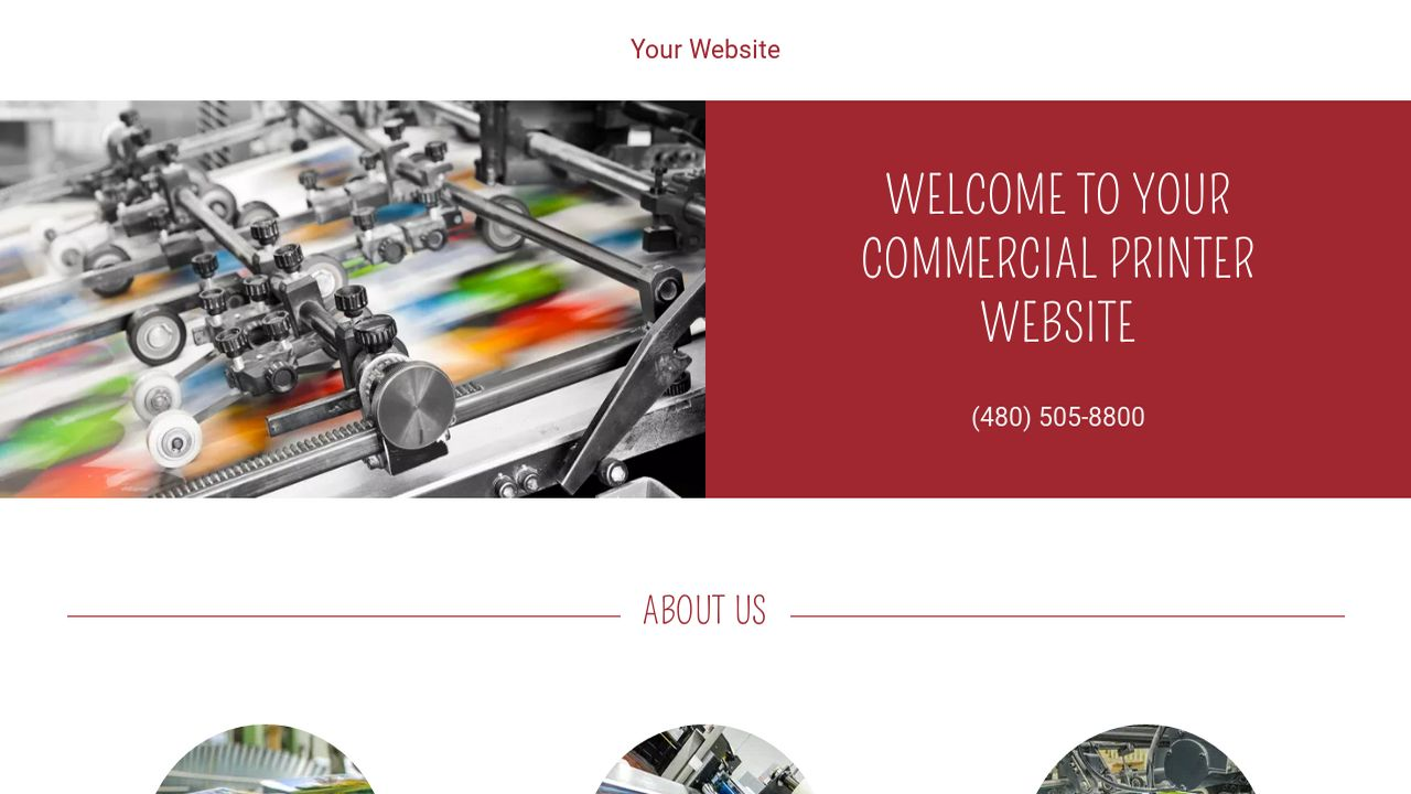 Commercial Printer Website: Example 14
