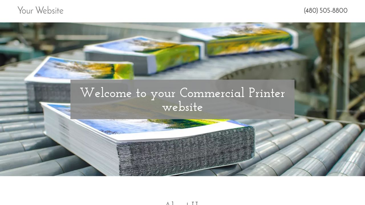 Commercial Printer Website: Example 16