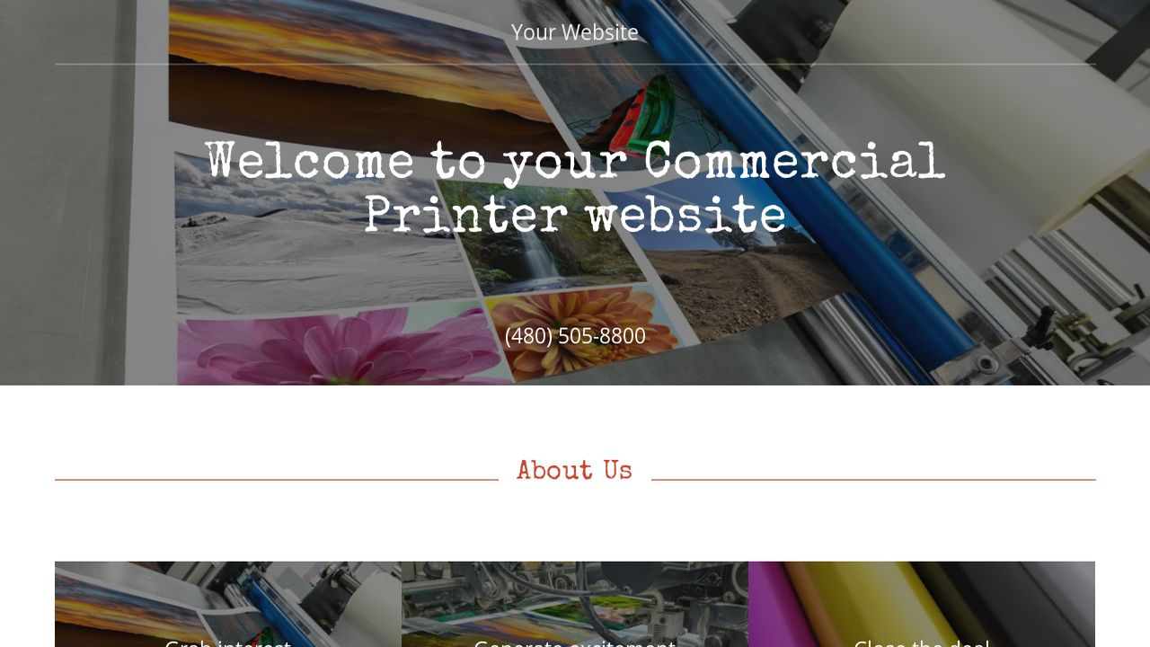 Commercial Printer Website: Example 17