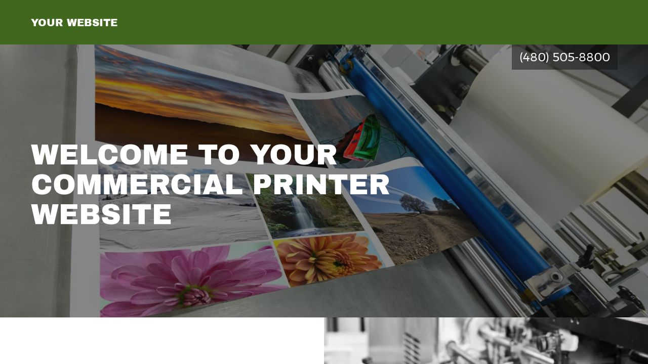 Commercial Printer Website: Example 18
