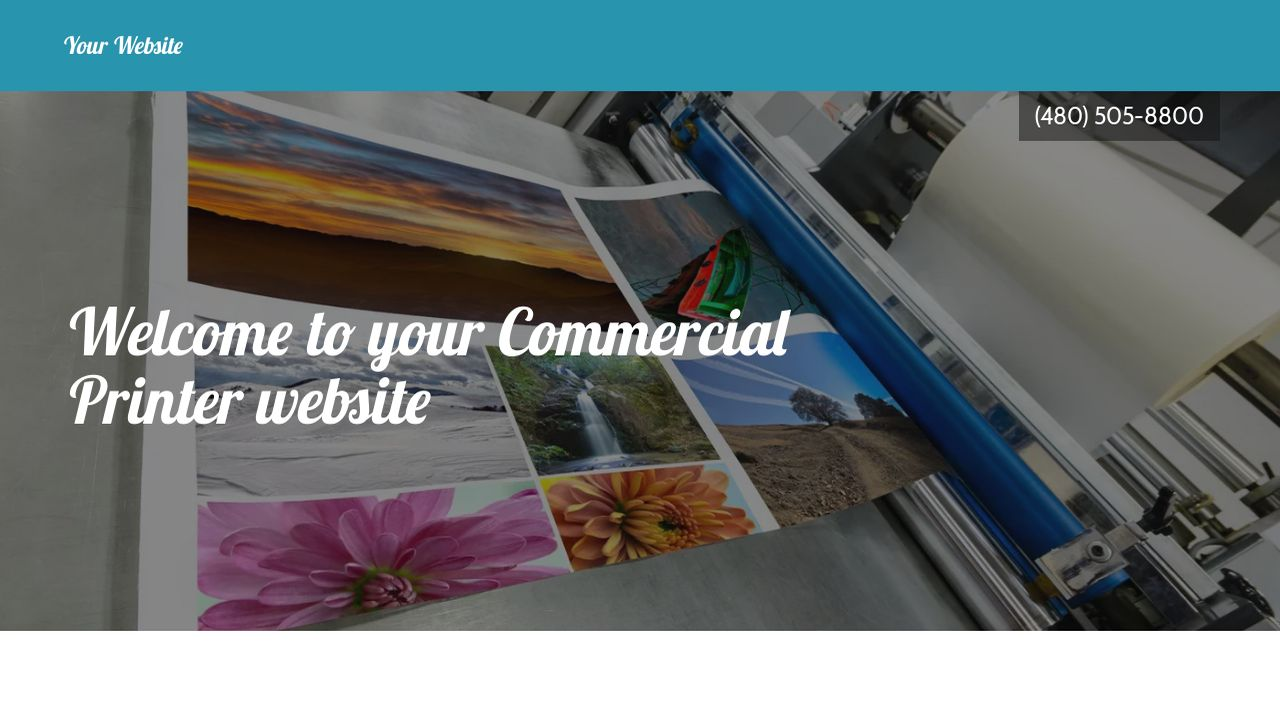Commercial Printer Website: Example 4