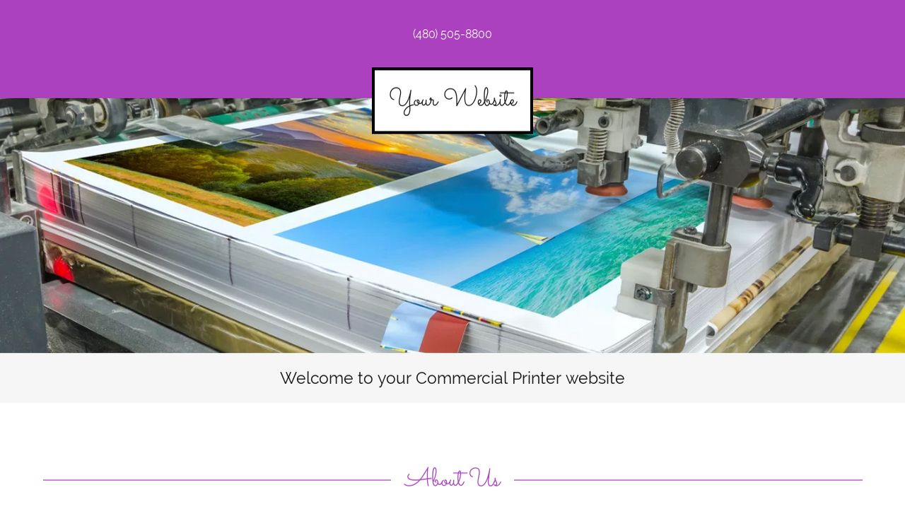 Commercial Printer Website: Example 6