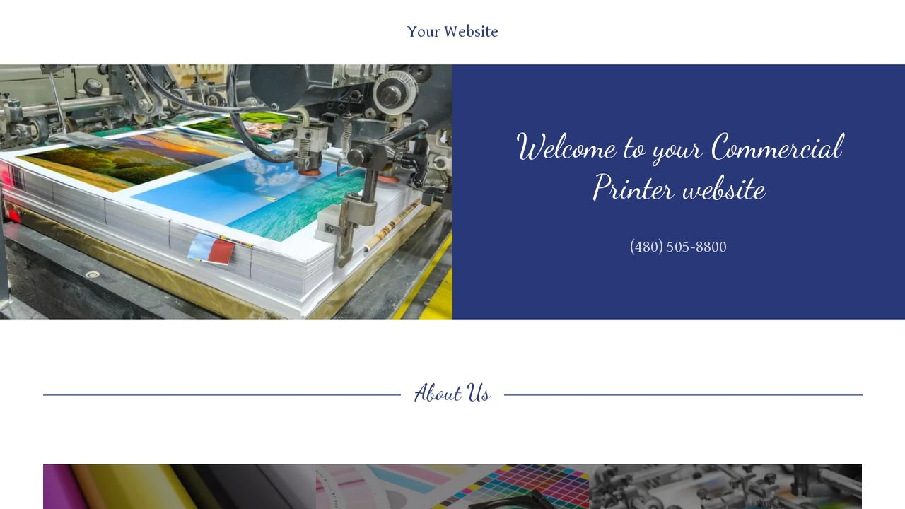 Commercial Printer Website: Example 7