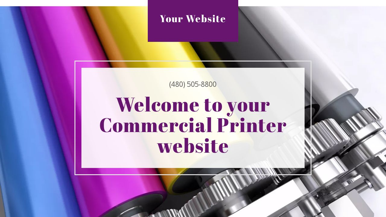 Commercial Printer Website: Example 8