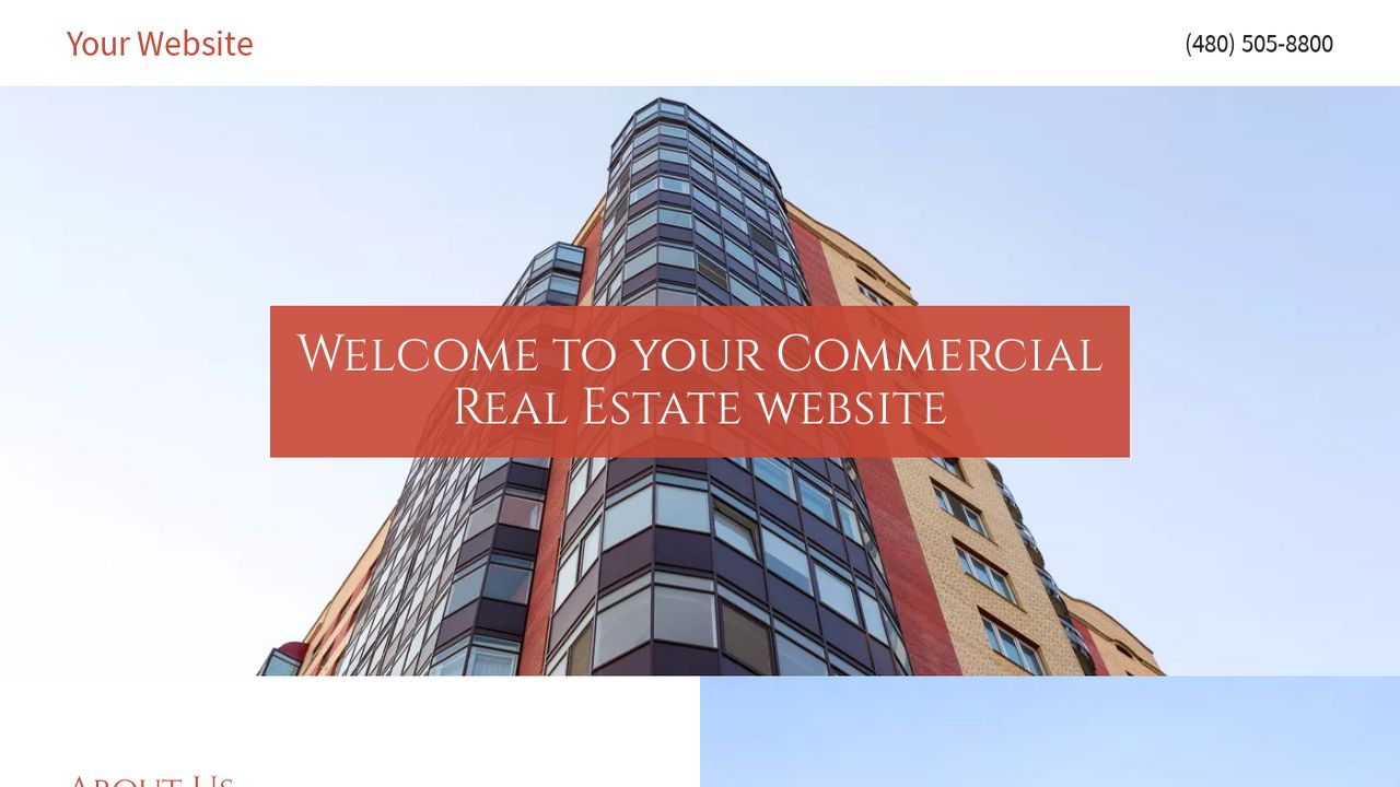 Commercial Real Estate Website: Example 1