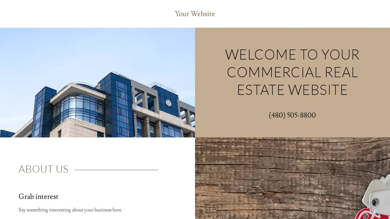 Commercial Real Estate Website: Example 11