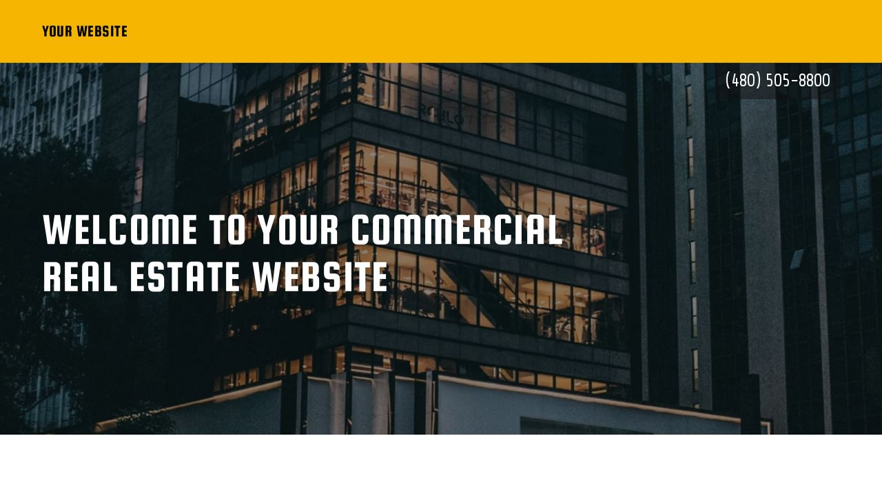 Commercial Real Estate Website: Example 13