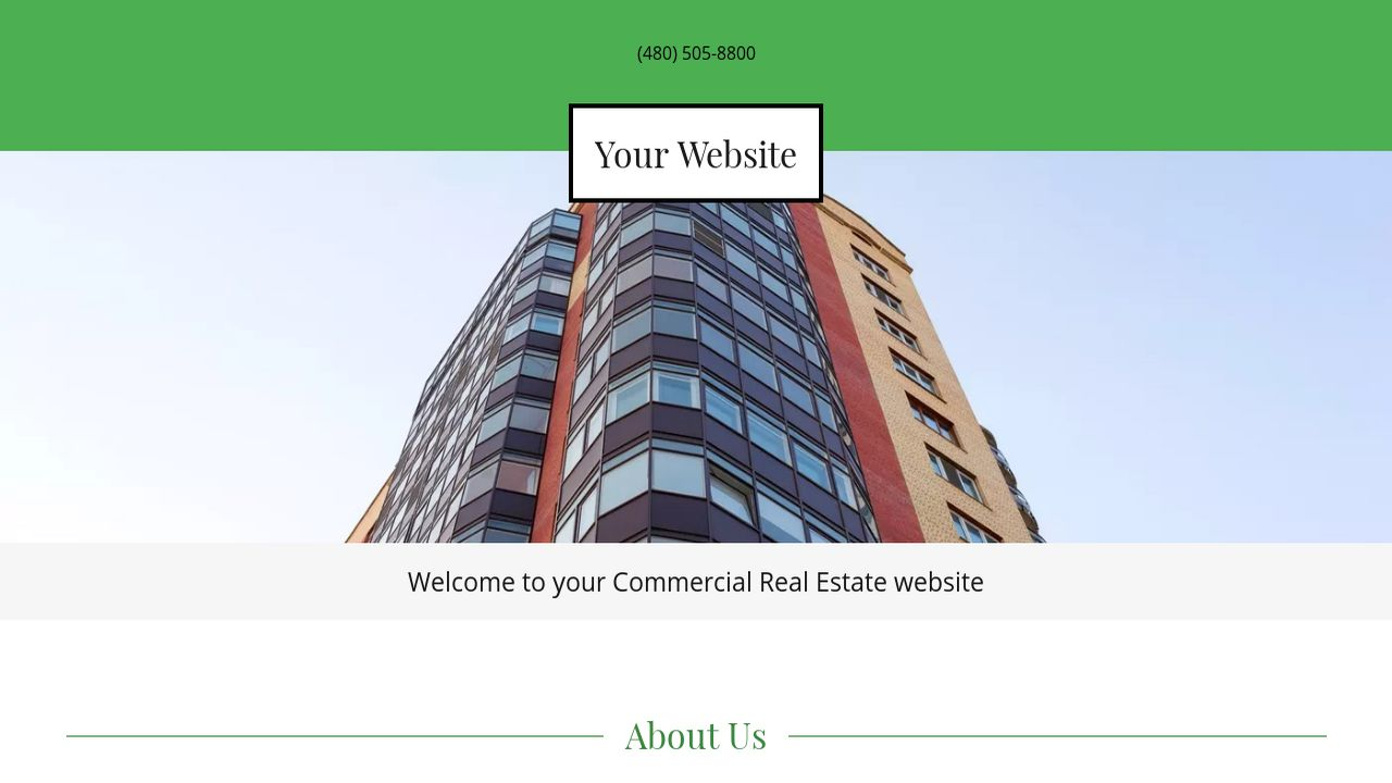 Commercial Real Estate Website: Example 2