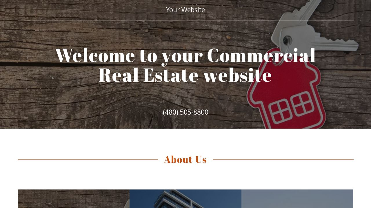 Commercial Real Estate Website: Example 5