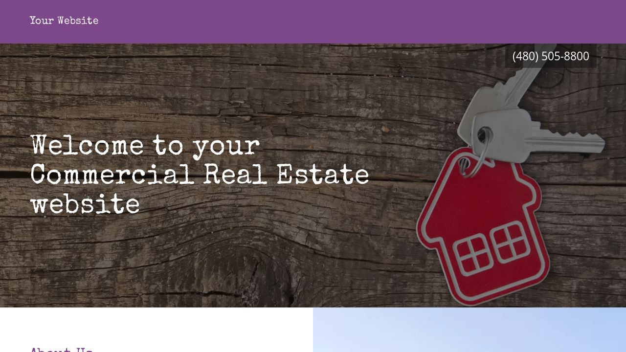Commercial Real Estate Website: Example 6