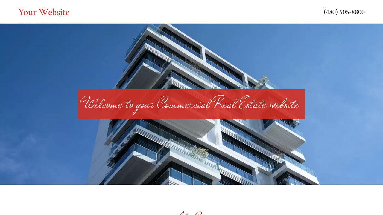 Commercial Real Estate Website: Example 8