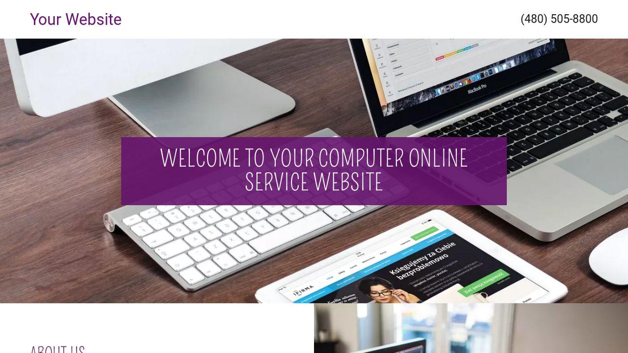 Computer Online Service Website Templates | GoDaddy