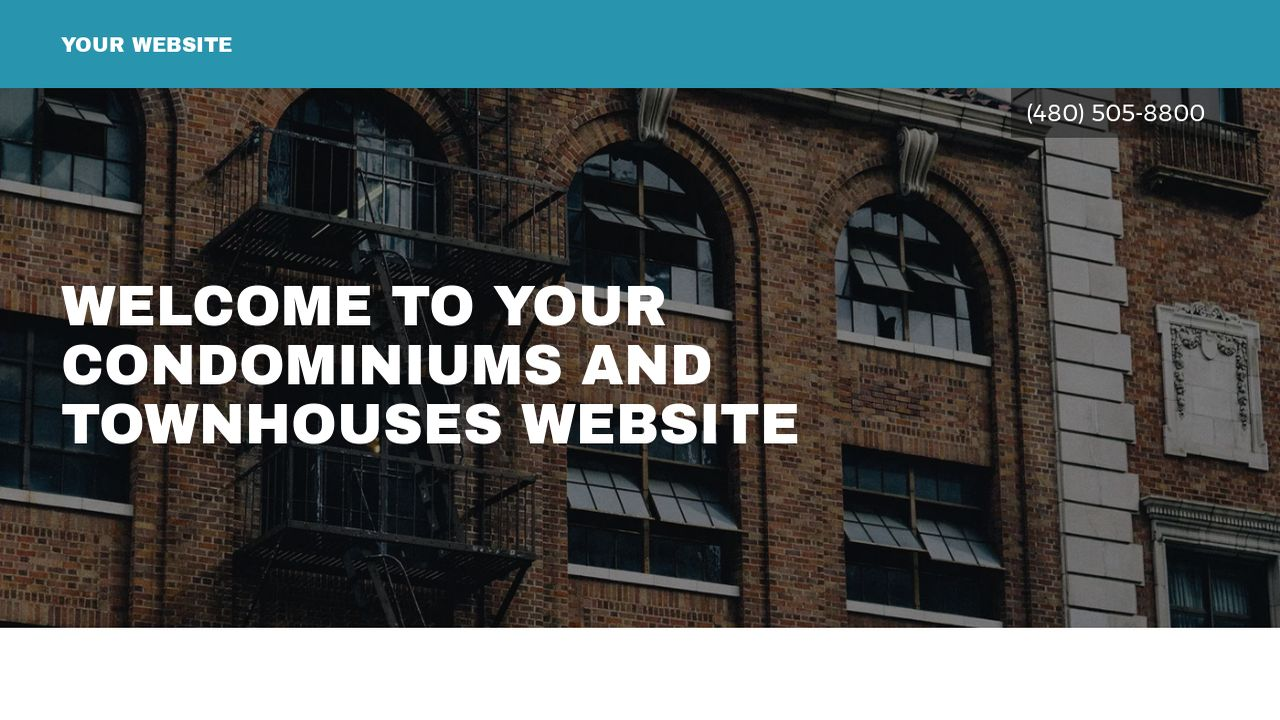Condominiums and Townhouses Website: Example 1