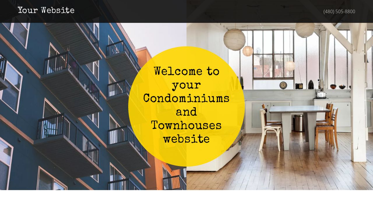 Condominiums and Townhouses Website: Example 11