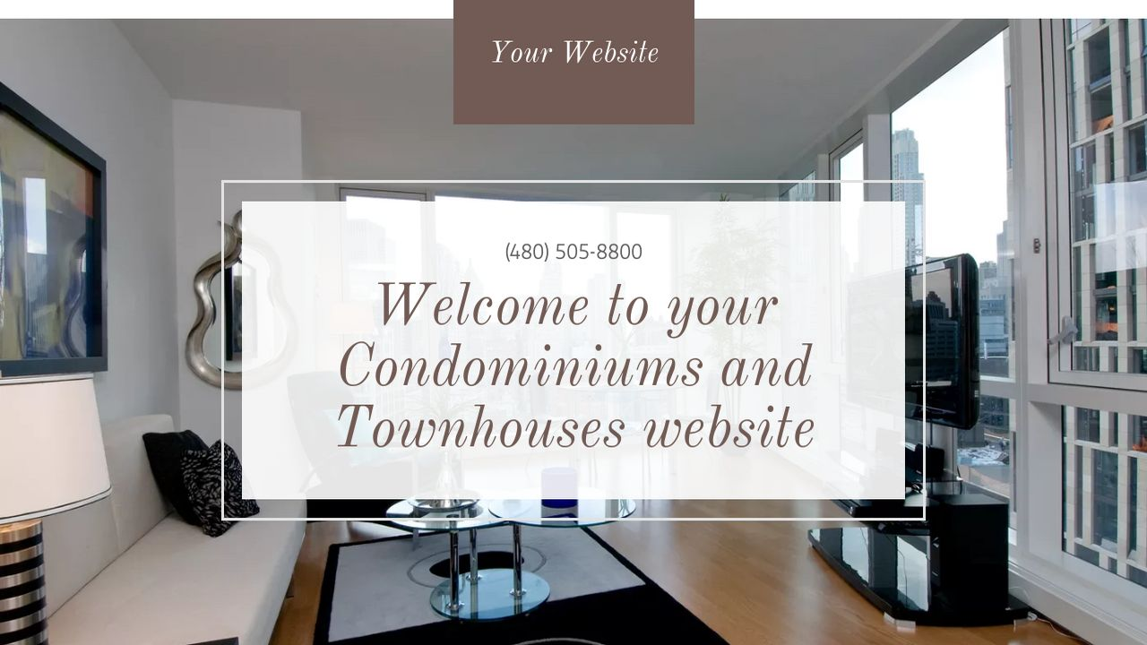 Condominiums and Townhouses Website: Example 13