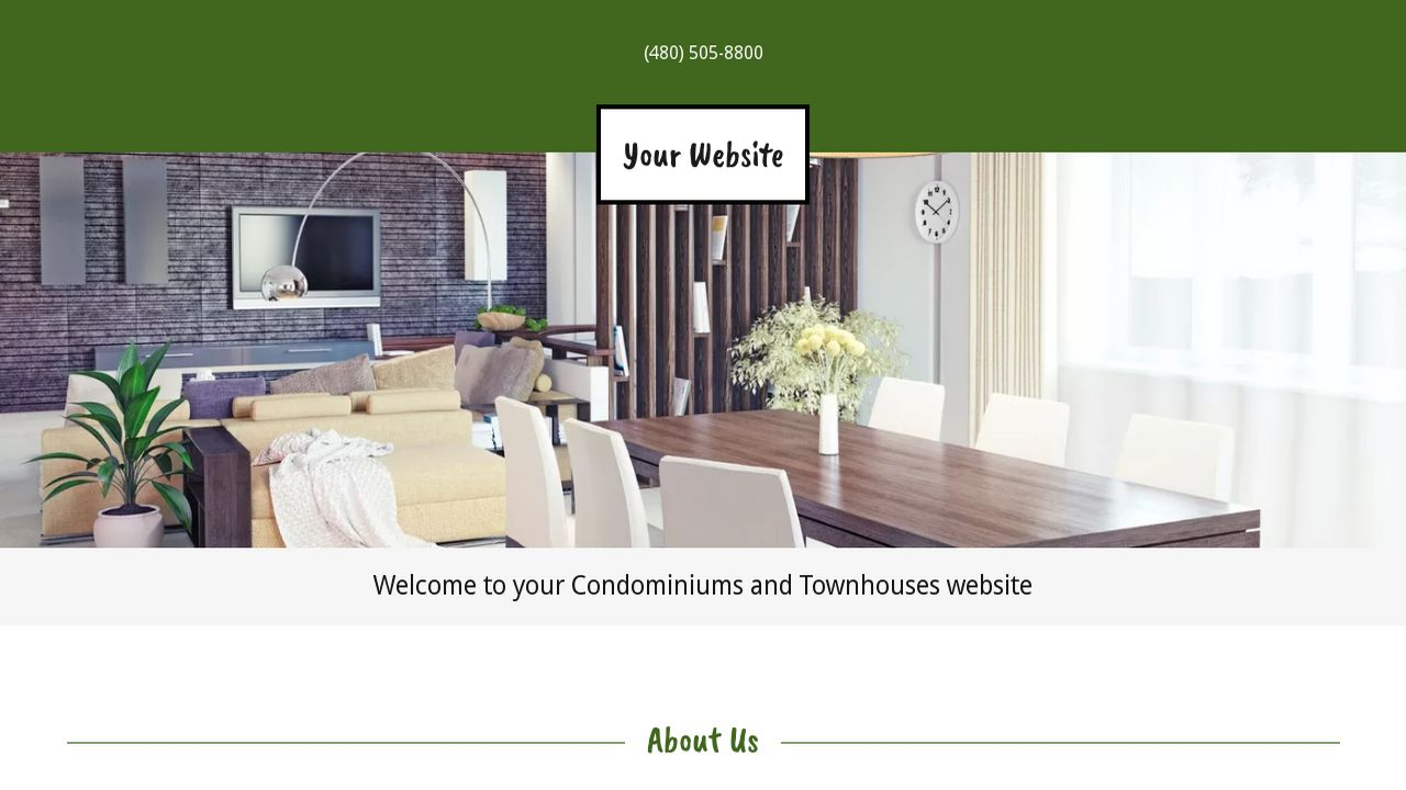 Condominiums and Townhouses Website: Example 14