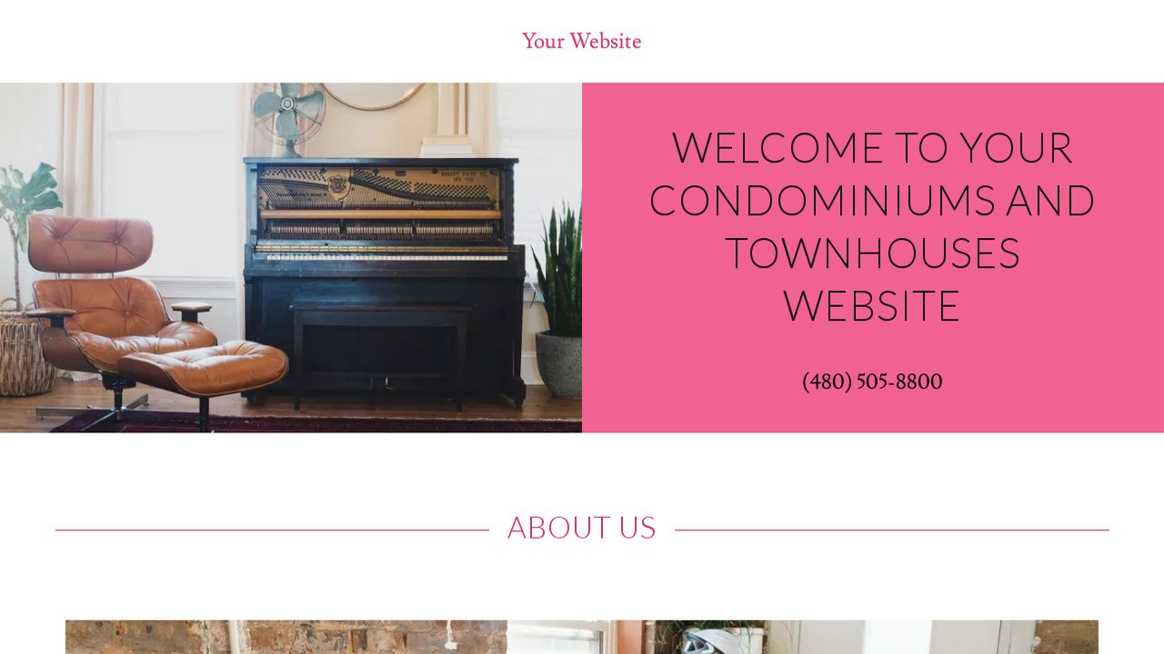 Condominiums and Townhouses Website: Example 17