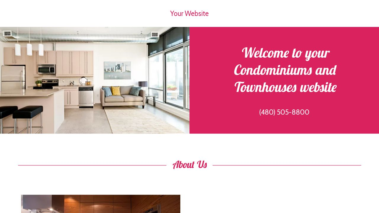 Condominiums and Townhouses Website: Example 3