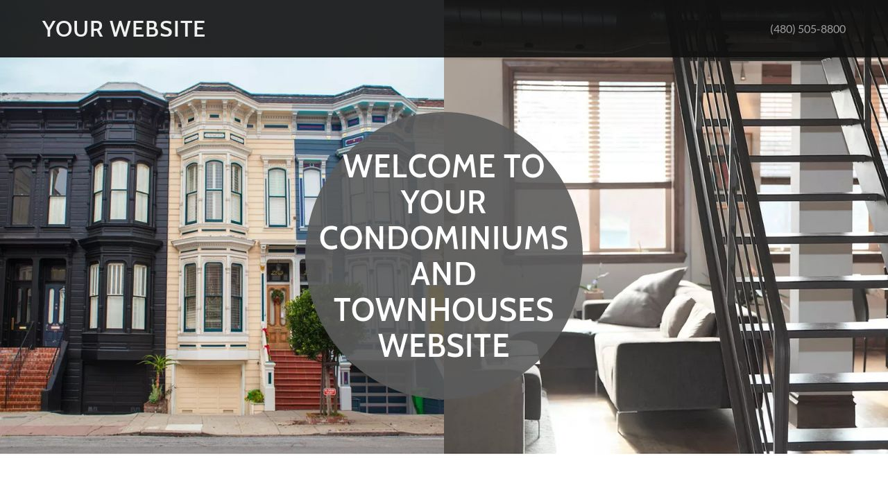 Condominiums and Townhouses Website: Example 4