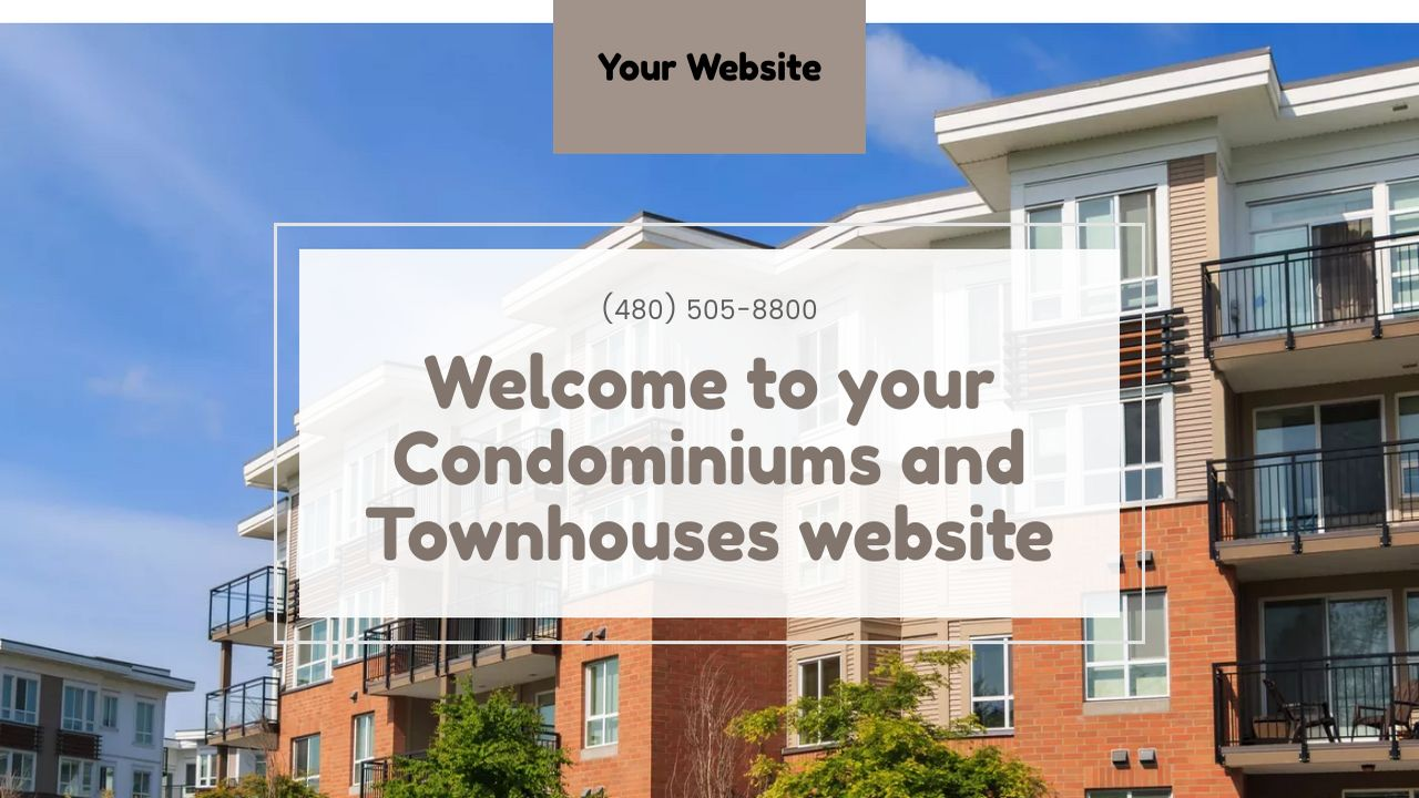 Condominiums and Townhouses Website: Example 6