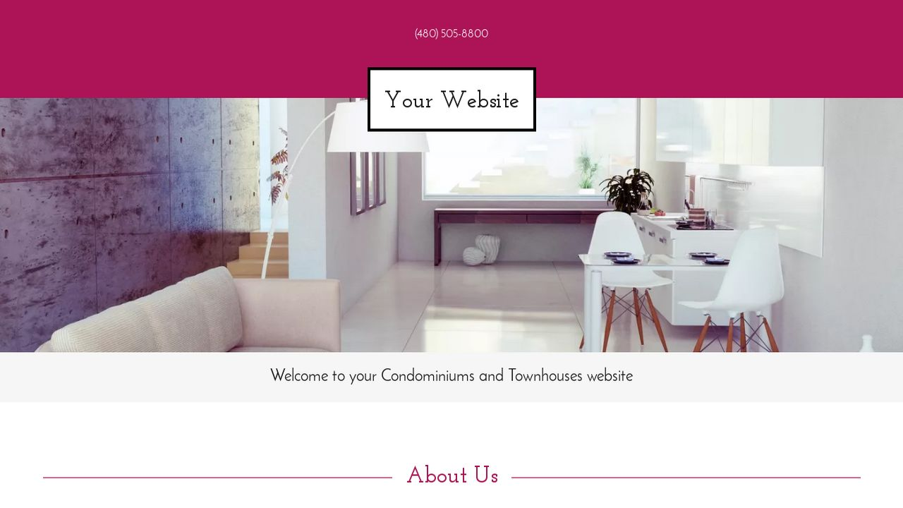 Condominiums and Townhouses Website: Example 7