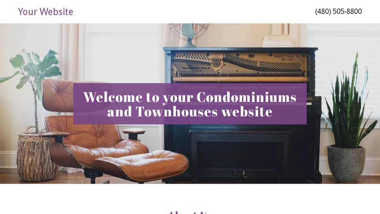 Condominiums and Townhouses Website: Example 9