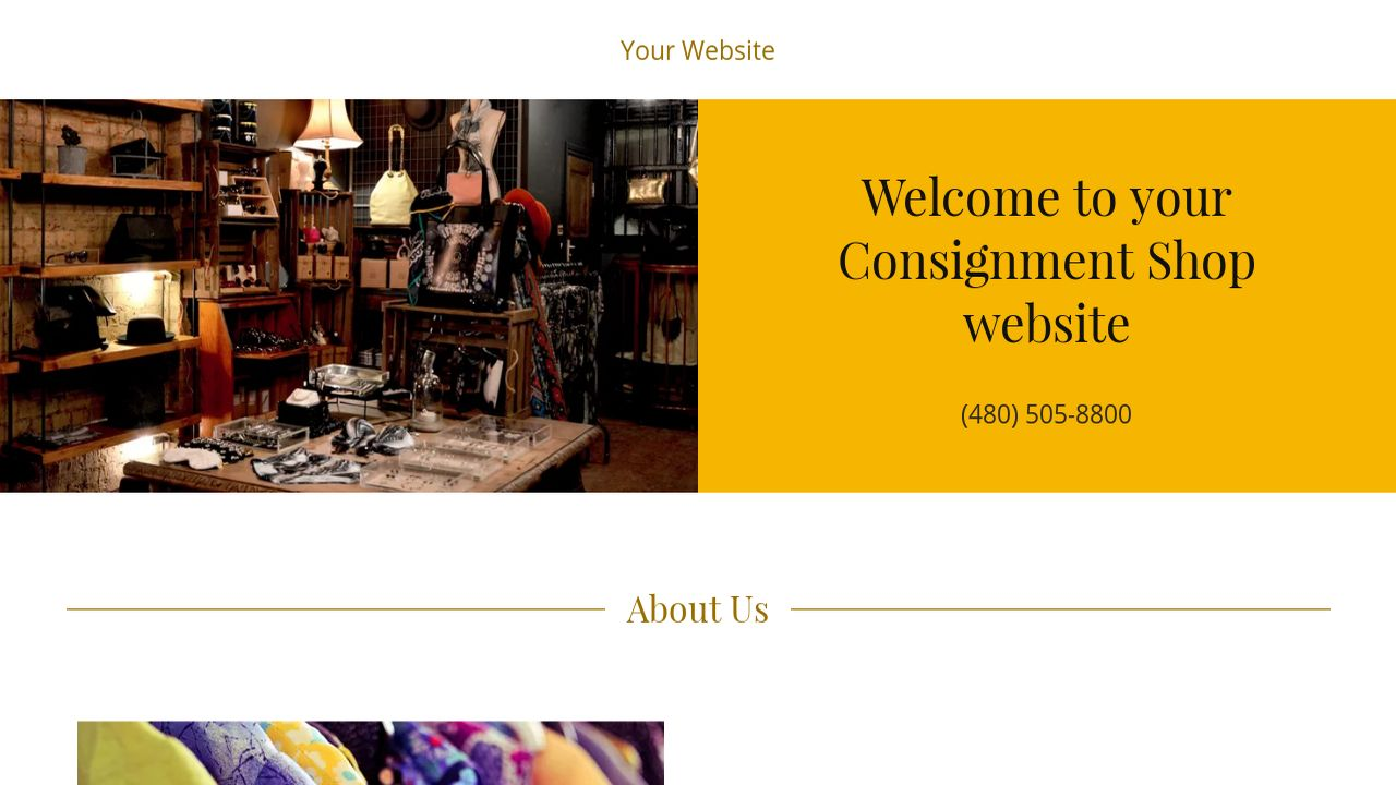 Consignment Shop Website: Example 11